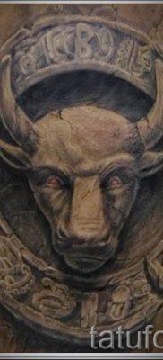 Фото тату телец для статьи про значение татуировки с рисунком телец – tatufoto.ru – 7