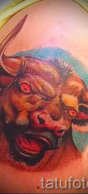 Фото тату телец для статьи про значение татуировки с рисунком телец – tatufoto.ru – 44