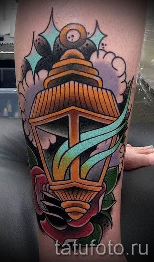 Фото тату фонарь для статьи про значение татуировки с фонарем - tatufoto.ru - 9