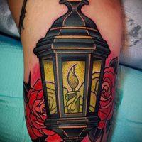 Значение тату фонарь
