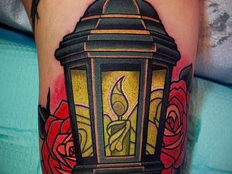 Фото тату фонарь для статьи про значение татуировки с фонарем - tatufoto.ru - 21