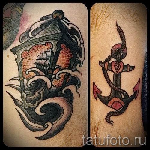 Фото тату фонарь для статьи про значение татуировки с фонарем - tatufoto.ru - 23