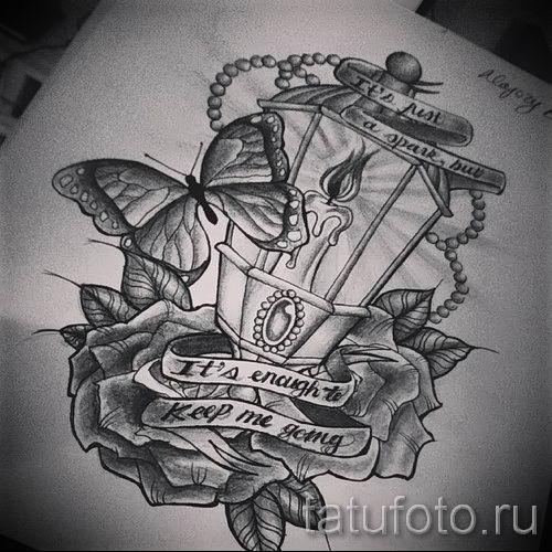 Фото тату фонарь для статьи про значение татуировки с фонарем - tatufoto.ru - 46