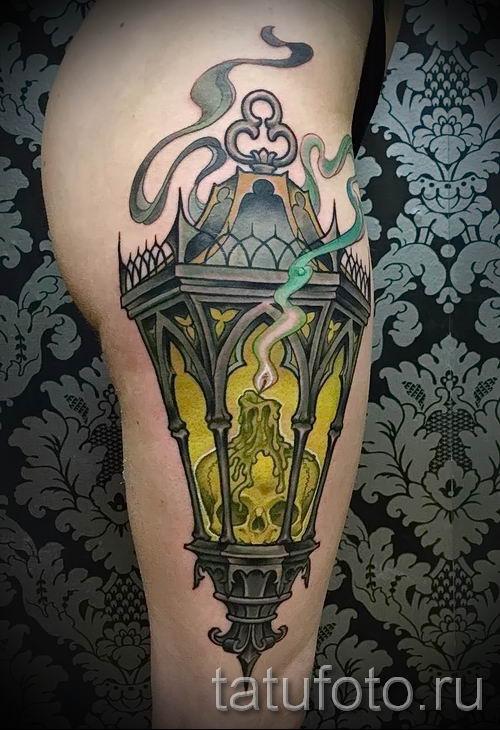 Фото тату фонарь для статьи про значение татуировки с фонарем - tatufoto.ru - 50