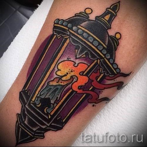 Фото тату фонарь для статьи про значение татуировки с фонарем - tatufoto.ru - 57