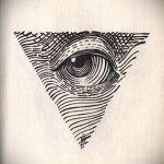 Эскиз для татуировки с треугольником - интересный вариант - tatufoto.ru - 2