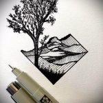 Эскиз для татуировки с треугольником - интересный вариант - tatufoto.ru - 9
