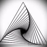 Эскиз для татуировки с треугольником - интересный вариант - tatufoto.ru - 12