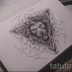 Эскиз для татуировки с треугольником - интересный вариант - tatufoto.ru - 24