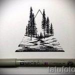 Эскиз для татуировки с треугольником - интересный вариант - tatufoto.ru - 25