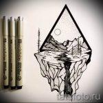 Эскиз для татуировки с треугольником - интересный вариант - tatufoto.ru - 26