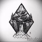 Эскиз для татуировки с треугольником - интересный вариант - tatufoto.ru - 29