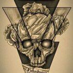 Эскиз для татуировки с треугольником - интересный вариант - tatufoto.ru - 37