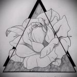 Эскиз для татуировки с треугольником - интересный вариант - tatufoto.ru - 40