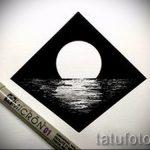 Эскиз для татуировки с треугольником - интересный вариант - tatufoto.ru - 42