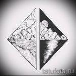 Эскиз для татуировки с треугольником - интересный вариант - tatufoto.ru - 47