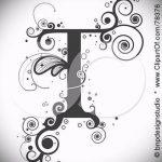 Эскиз тату буква для татуировки - вариант - tatufoto.ru - 8