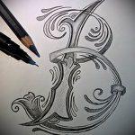 Эскиз тату буква для татуировки - вариант - tatufoto.ru - 11