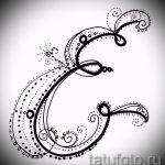 Эскиз тату буква для татуировки - вариант - tatufoto.ru - 31
