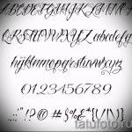 Эскиз тату буква для татуировки - вариант - tatufoto.ru - 41