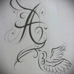Эскиз тату буква для татуировки - вариант - tatufoto.ru - 75