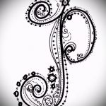 Эскиз тату буква для татуировки - вариант - tatufoto.ru - 84