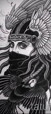 татуировка Валькирия на фото для статьи про значение тату – tatufoto.ru – 9