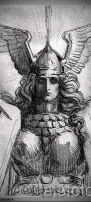 татуировка Валькирия на фото для статьи про значение тату – tatufoto.ru – 15