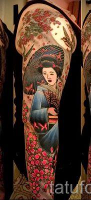 тату гейша фото для статьи про значение татуировки с гейшей – tatufoto.ru – 1