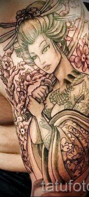 тату гейша фото для статьи про значение татуировки с гейшей – tatufoto.ru – 2