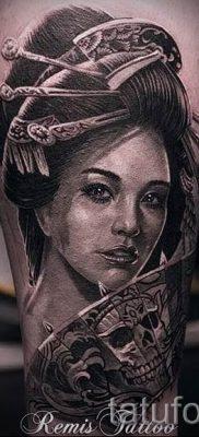 тату гейша фото для статьи про значение татуировки с гейшей – tatufoto.ru – 6