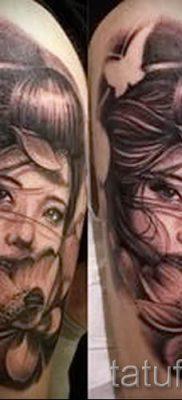 тату гейша фото для статьи про значение татуировки с гейшей – tatufoto.ru – 8