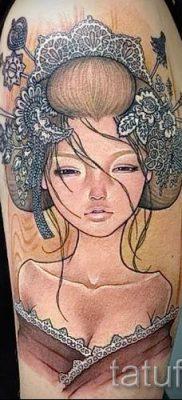 тату гейша фото для статьи про значение татуировки с гейшей – tatufoto.ru – 9
