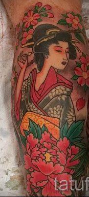 тату гейша фото для статьи про значение татуировки с гейшей – tatufoto.ru – 17