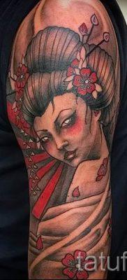 тату гейша фото для статьи про значение татуировки с гейшей – tatufoto.ru – 24