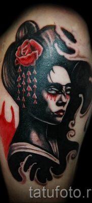 тату гейша фото для статьи про значение татуировки с гейшей – tatufoto.ru – 28