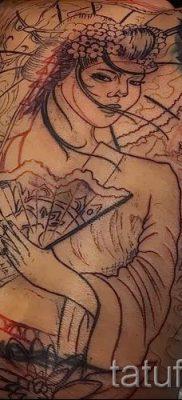тату гейша фото для статьи про значение татуировки с гейшей – tatufoto.ru – 35