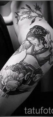 тату гейша фото для статьи про значение татуировки с гейшей – tatufoto.ru – 47