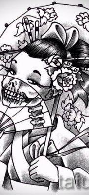 тату гейша фото для статьи про значение татуировки с гейшей – tatufoto.ru – 52