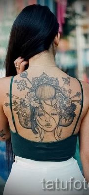 тату гейша фото для статьи про значение татуировки с гейшей – tatufoto.ru – 60