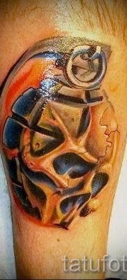 тату граната фото готовой татуировки для статьи про значение тату – tatufoto.ru 1