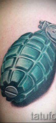 тату граната фото готовой татуировки для статьи про значение тату – tatufoto.ru 7