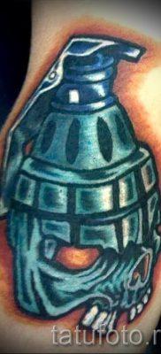 тату граната фото готовой татуировки для статьи про значение тату – tatufoto.ru 12
