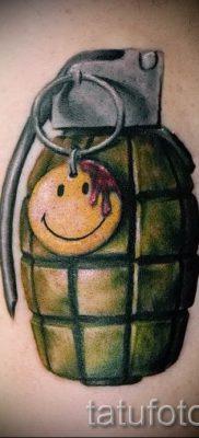 тату граната фото готовой татуировки для статьи про значение тату – tatufoto.ru 15