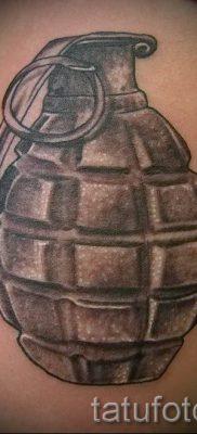 тату граната фото готовой татуировки для статьи про значение тату – tatufoto.ru 17