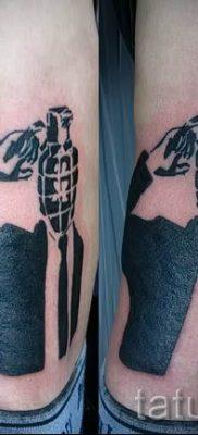 тату граната фото готовой татуировки для статьи про значение тату – tatufoto.ru 27