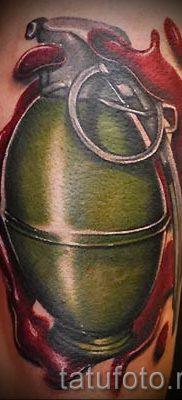 тату граната фото готовой татуировки для статьи про значение тату – tatufoto.ru 29
