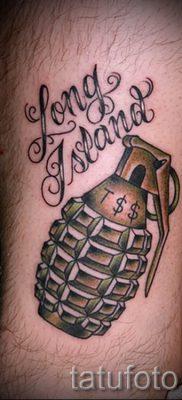тату граната фото готовой татуировки для статьи про значение тату – tatufoto.ru 42
