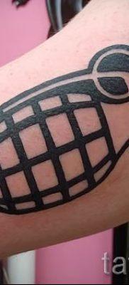 тату граната фото готовой татуировки для статьи про значение тату – tatufoto.ru 44