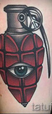 тату граната фото готовой татуировки для статьи про значение тату – tatufoto.ru 46